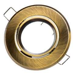 Aro empotrable para bombilla circular basculante oro viejo