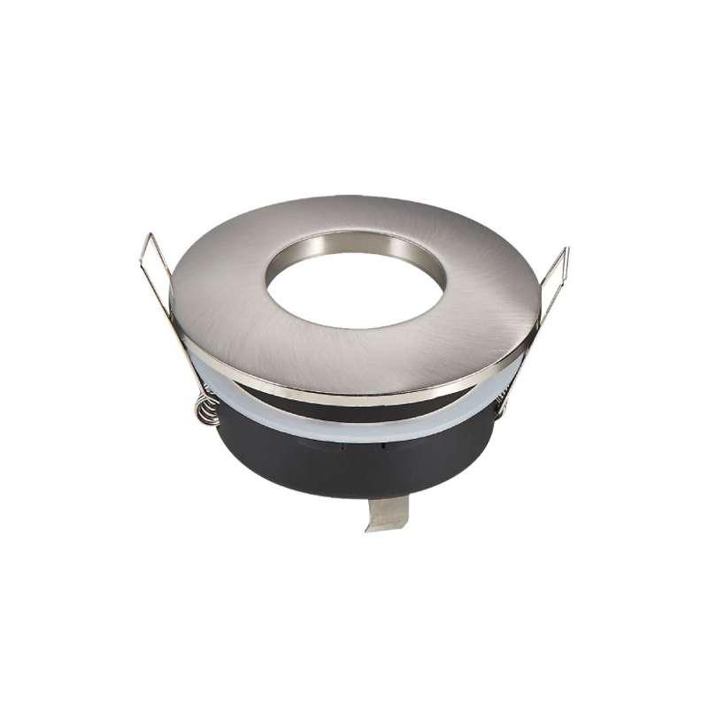 Aro empotrable para bombilla circular fijo IP65. Acabado en blanco