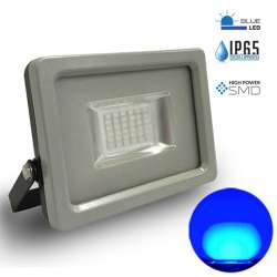 Proyector led Azul 20W Premium SMD 100° Serie Super Slim