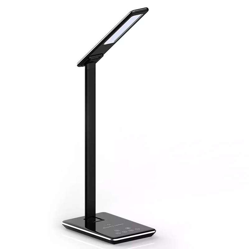 Flexo de estudio LED de 5W con cargador inalámbrico para Smartphone 3 en 1