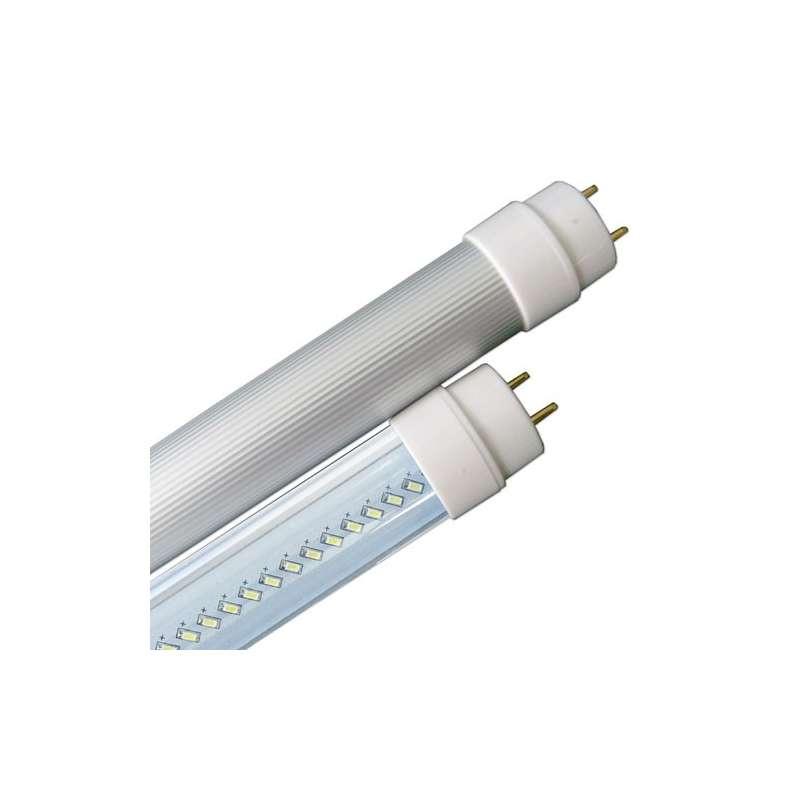 Tubo led T8 aluminio 6000K 10W SMD 3014 120° 60cm.tapa transparente