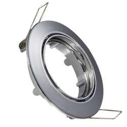 Aro empotrable para bombilla led circular basculante metalizado