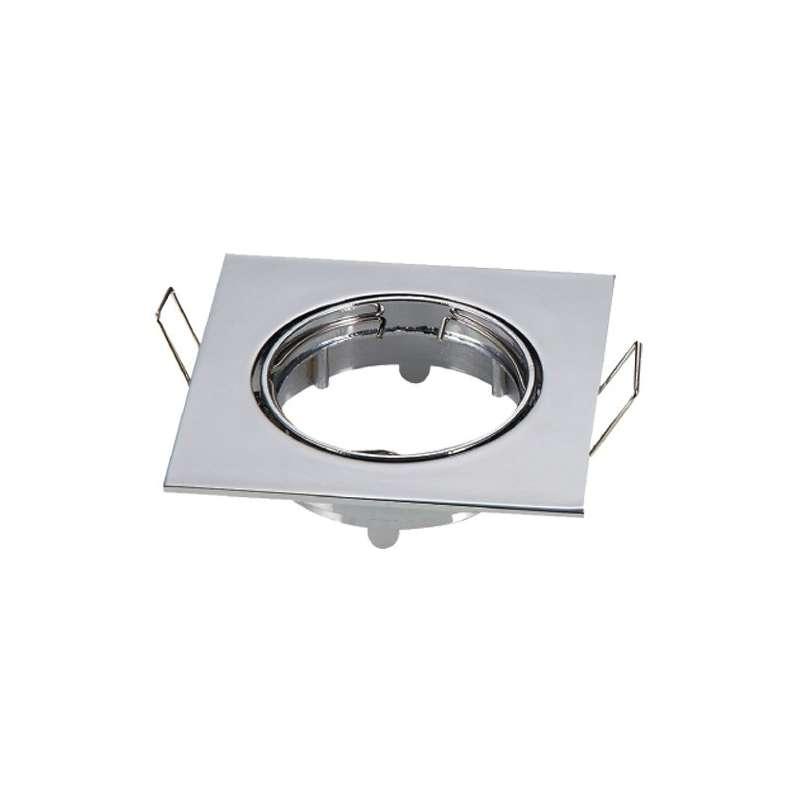 Aro empotrable para bombilla led cuadrado basculante metalizado