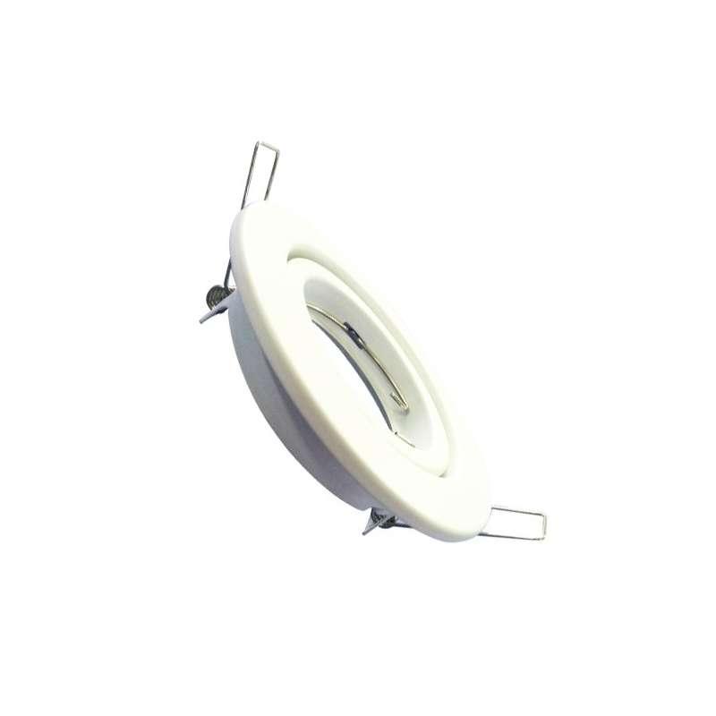 Aro empotrable ECO para bombilla circular basculante blanco