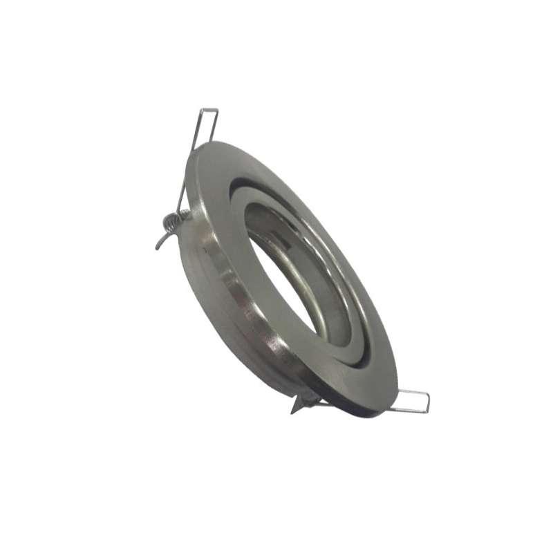 Aro empotrable ECO para bombilla circular basculante níquel satinado