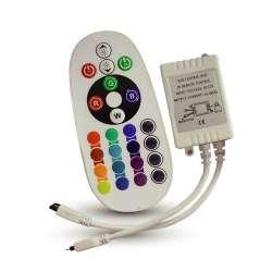 Controlador tira led max.72W 6A DC12/24V + mando Curve IR 24 Botones