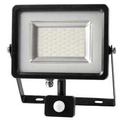 Proyector LED SMD Serie Slim con sensor de movimiento Negro 30W 100°