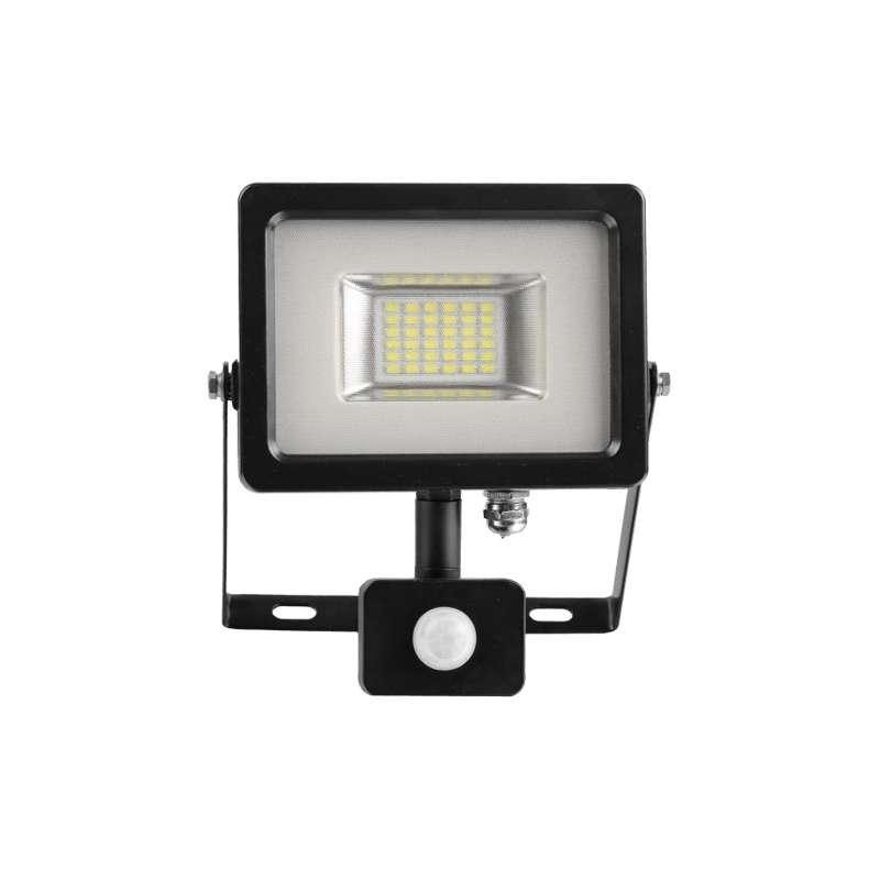 Proyector LED SMD Serie Slim con sensor de movimiento Negro 20W 100°