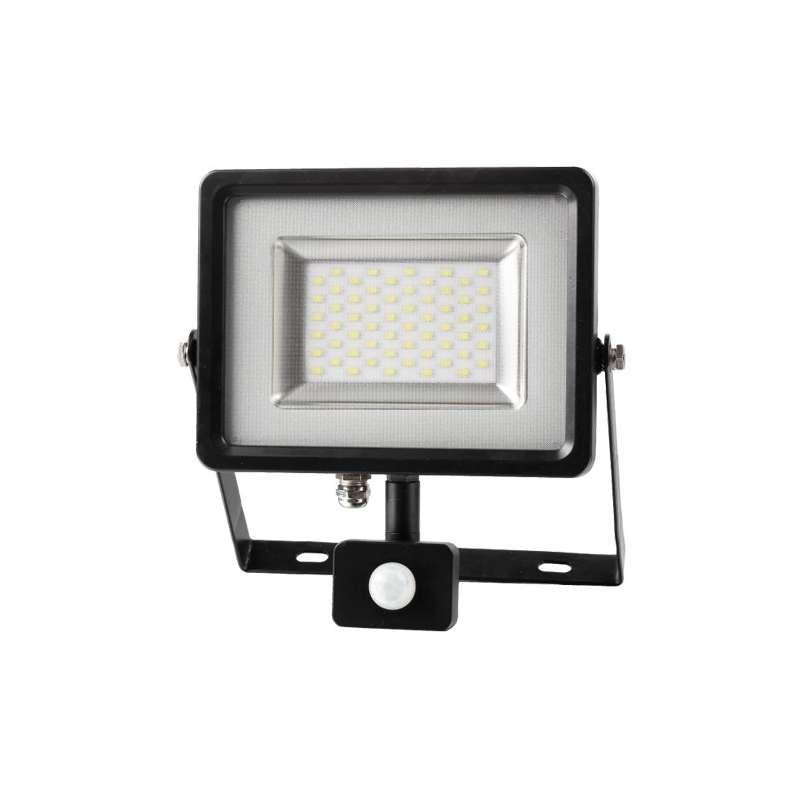Proyector LED SMD Serie Slim con sensor de movimiento Negro 50W 100°