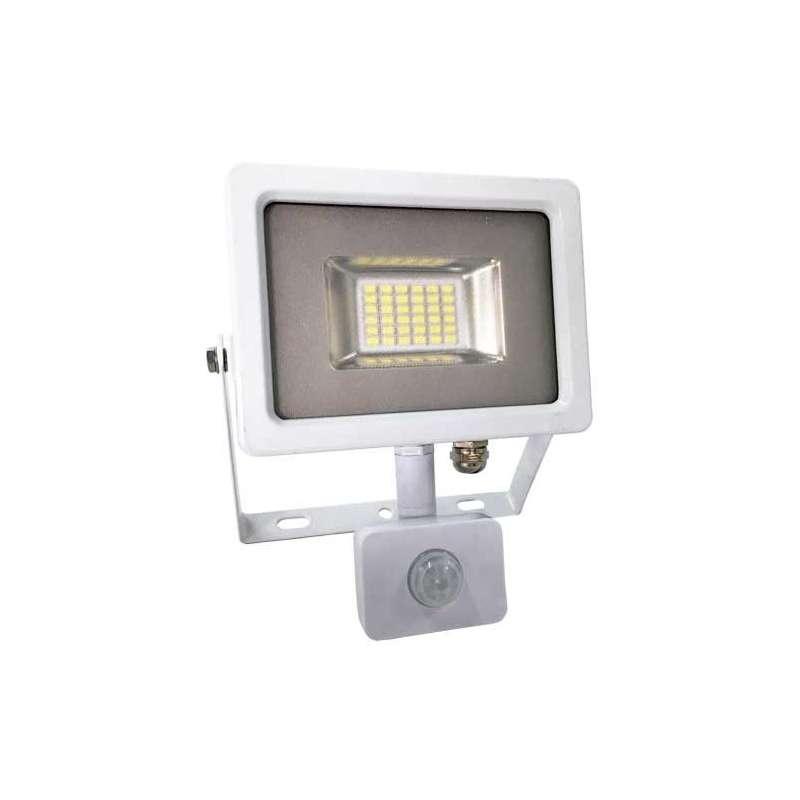 Proyector LED SMD Serie Slim con sensor de movimiento Blanco 6000K 20W 100°