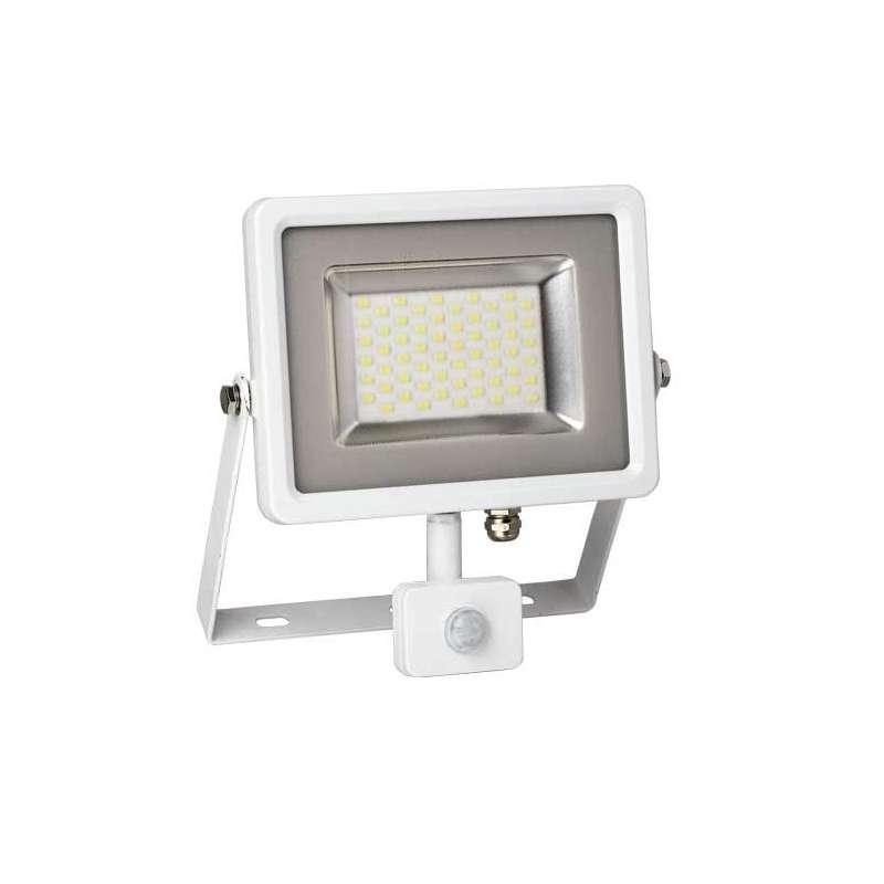 Proyector LED SMD Serie Slim con sensor de movimiento Blanco 6000K 30W 100°