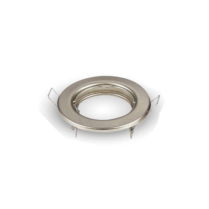 Aro empotrable ECO para bombilla LED GU10 circular níquel satín PACK 2 ud.