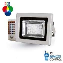 Proyector led PREMIUM SMD RGB 10W 120° radio control por radiofrecuencia