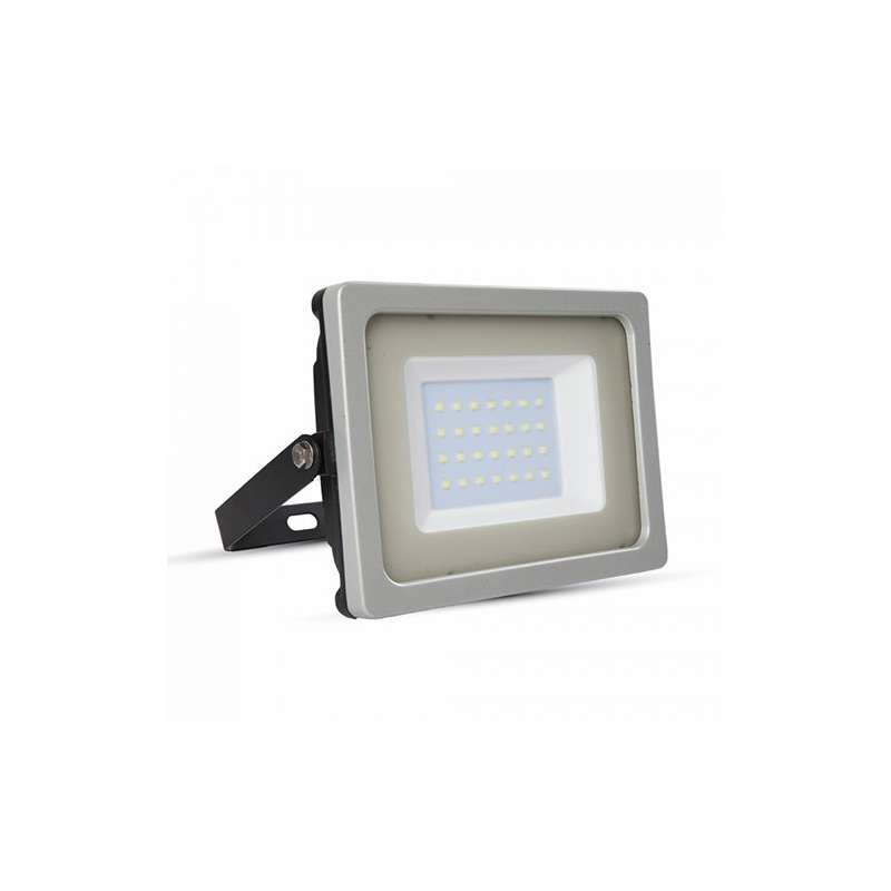 Foco proyector led 30W SMD 100° Super Slim Serie Shiny Gris/Negro