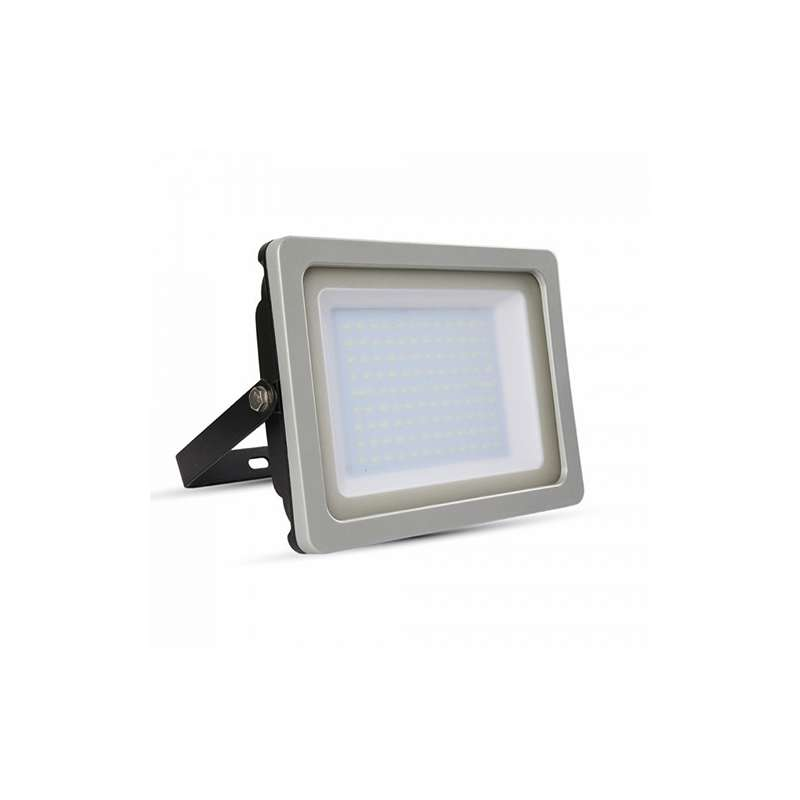 Foco proyector led 3000K 100W SMD 100° Super Slim Serie Shiny Gris/Negro