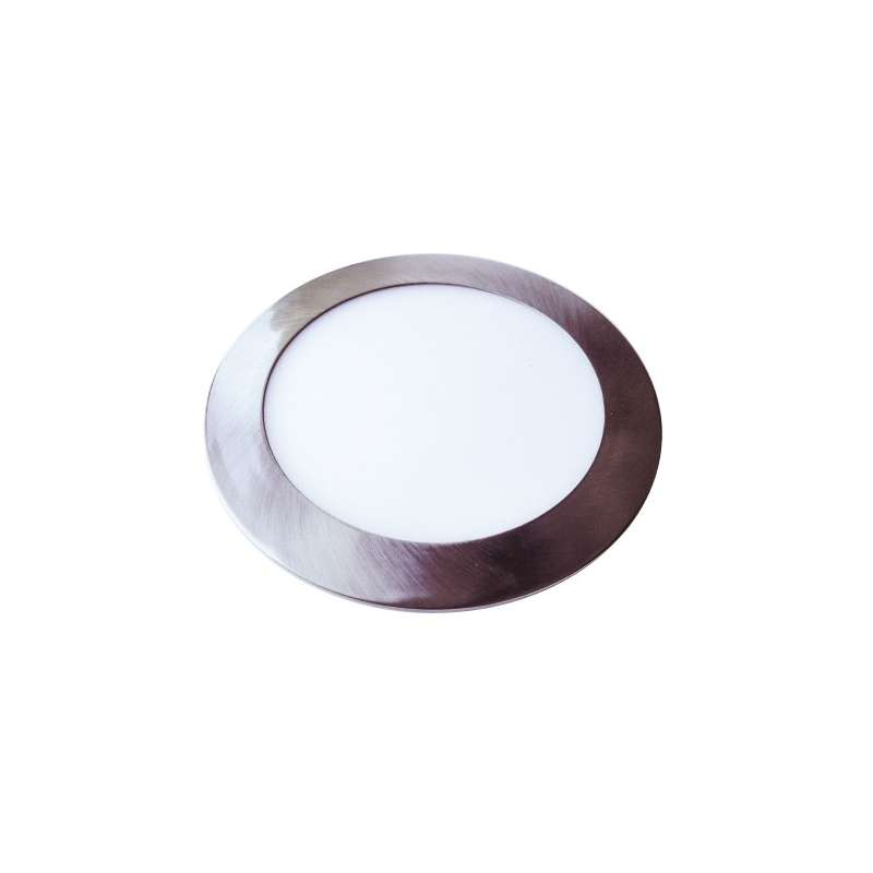 Downlight led extraplano circular plata 6400K 12W 120°