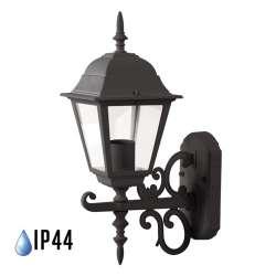 Farolillo de pared Classic Lite para bombilla LED E27 IP44 Negro