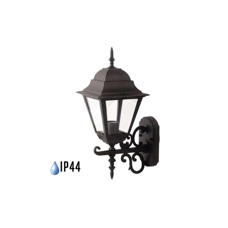 Farolillo de pared Classic Maxi para bombilla LED E27 IP44 Negro