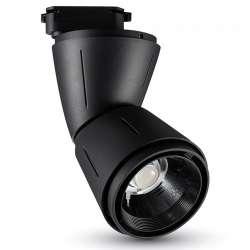 Foco Proyector LED para Carril de 4 Núcleos Exclusive 45W 20° Negro