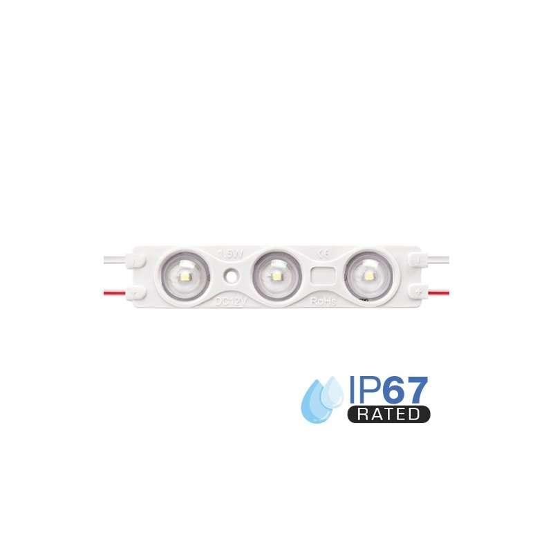 Módulo LED para rotulación Azul 1.5W 3LED IP67 12V Diodo SMD2835