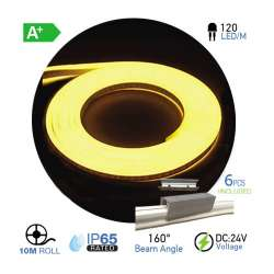 Led Neon Flex Amarillo 10W/m 120 leds/m 24V IP67 10 metros