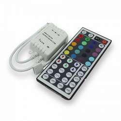 Controlador tira led mx.72/144W 6A DC12/24V + Mando IR 44