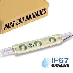 Pack 200ud - Módulo LED para rotulación 6000K 1W IP65 12V Diodo 2835