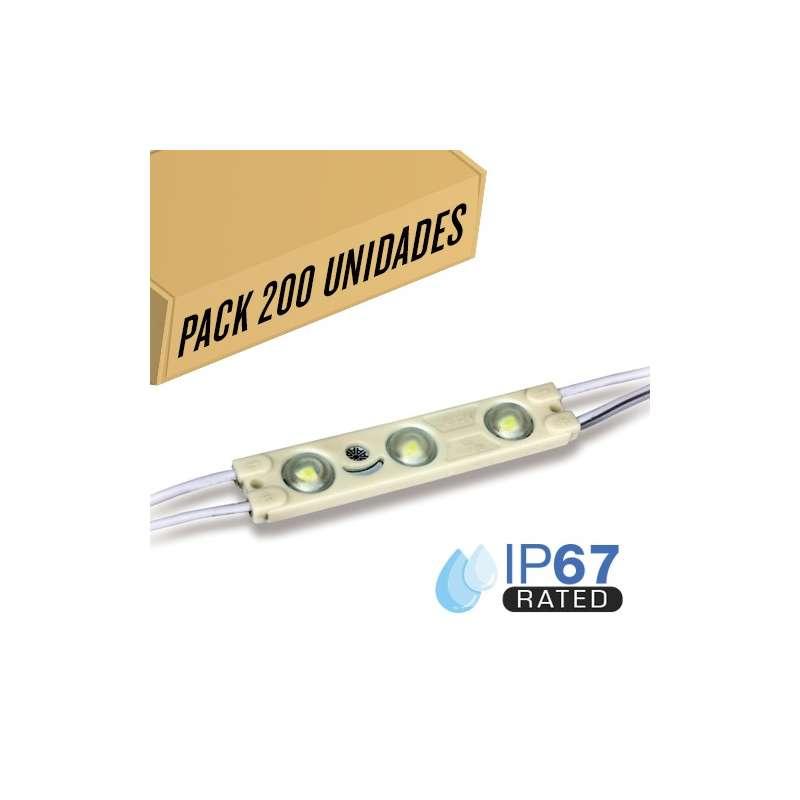 Pack 200ud - Módulo LED para rotulación Rojo 1W IP65 12V Diodo 2835