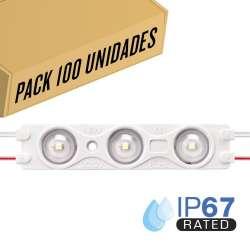 Pack 200ud - Módulo LED para rotulación Rojo 1.5W 3LED IP67 12V Diodo SMD28