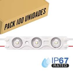 Pack 200ud - Módulo LED para rotulación Azul 1.5W 3LED IP67 12V Diodo SMD28