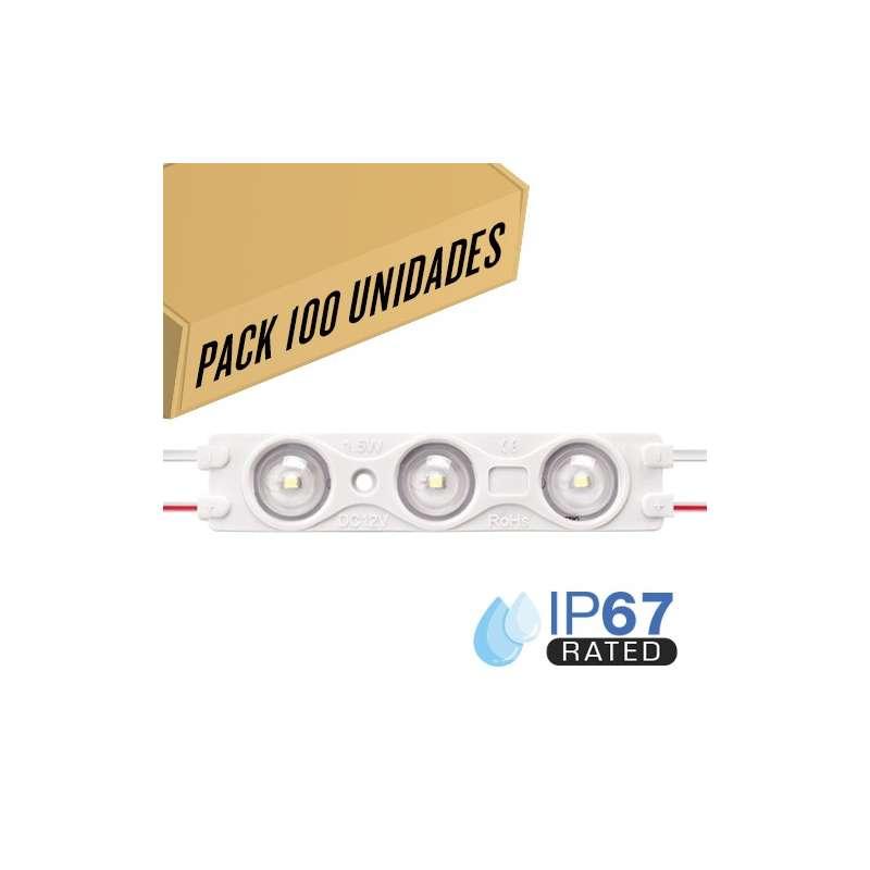 Pack 200ud - Módulo LED para rotulación Verde 1.5W 3LED IP67 12V Diodo SMD2