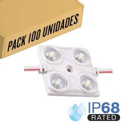 Pack 200ud - Módulo LED para rotulación Azul 1.44W 4LED IP68 12V Diodo SMD2835