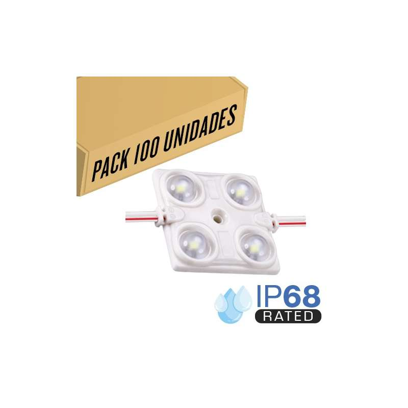 Pack 200ud - Módulo LED para rotulación Azul 1.44W 4LED IP68 12V Diodo SMD2835