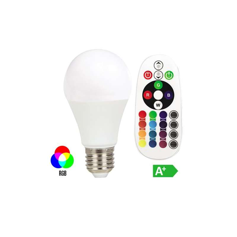 Lámpara led globo E27 6W 200° EXPERIENCE RGB+4000K