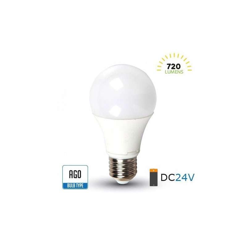 Lámpara led A60 DC24V E27 6400K 9W 200°