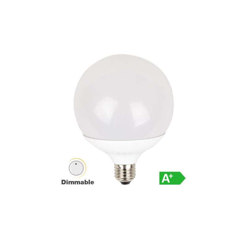 Lámpara led globo G120 3000K 13W 200° regulable