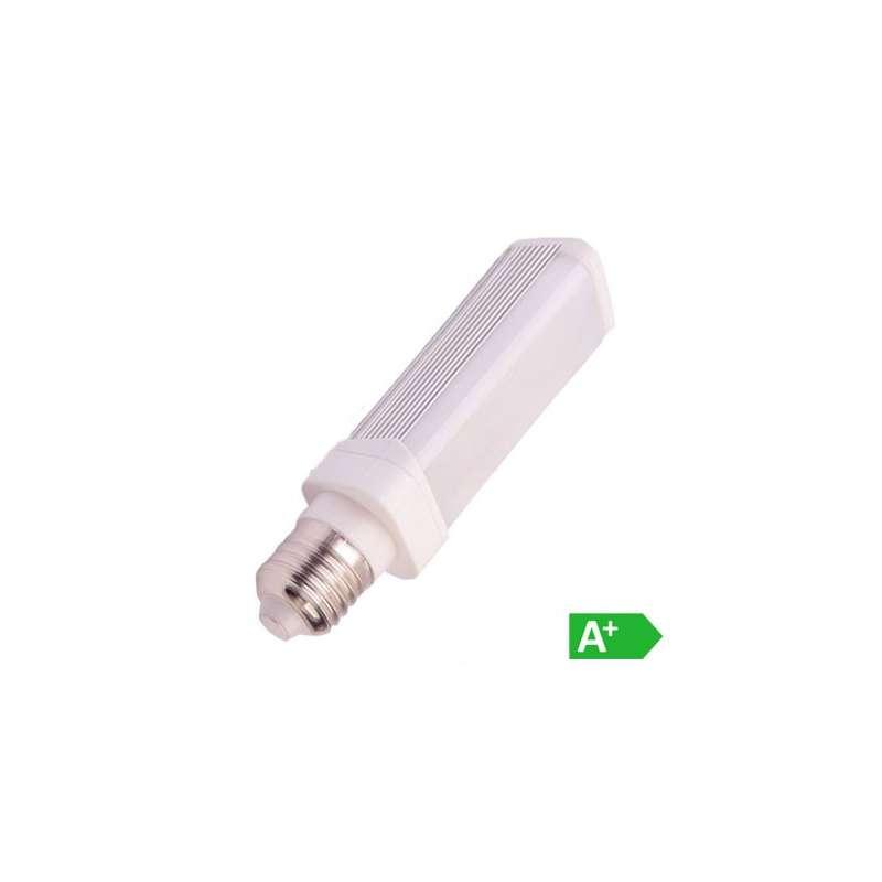 Lámpara Led PL Aluminio E27 6W 120°