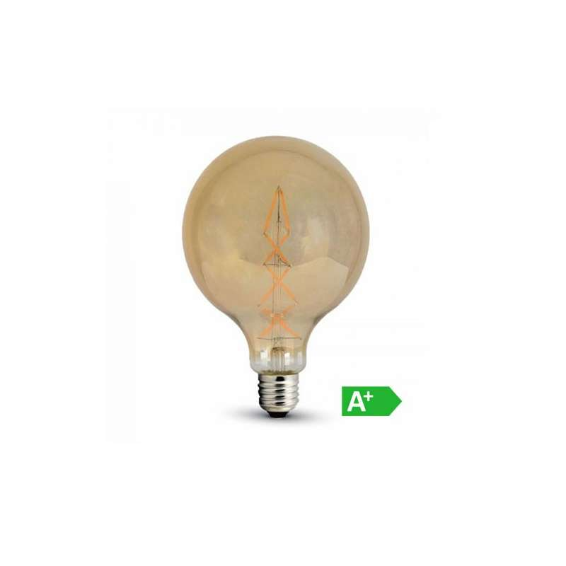 Lámpara led globo filamento Gold Cover E27 2200K 8W 360°