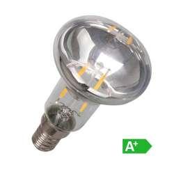 Lámpara led filamento E14 3000K R39 2W 70