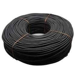 Cable textil color negro 2x0.75mm - Bobina 200m.