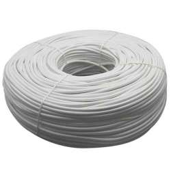 Cable textil color blanco 2x0.75mm -  Bobina 200m.