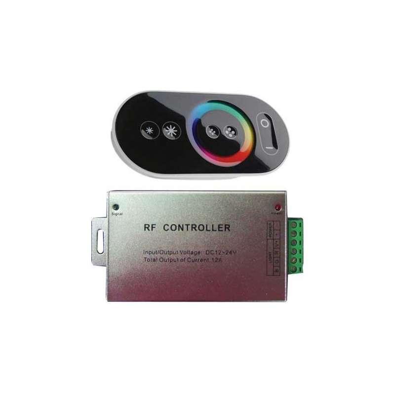 Controlador táctil RF tiras led mx.180/360W 15A DC 12/24V