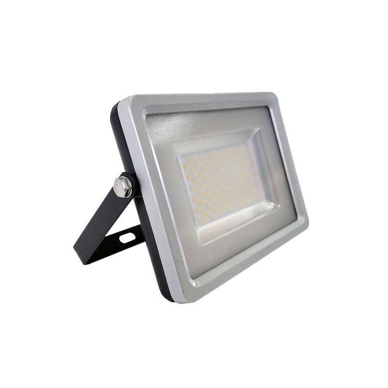 Proyector led 50W Premium SMD 100° Serie Slim Negro/Gris