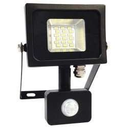 Proyector LED SMD Serie Slim con sensor de movimiento Negro 10W 100°