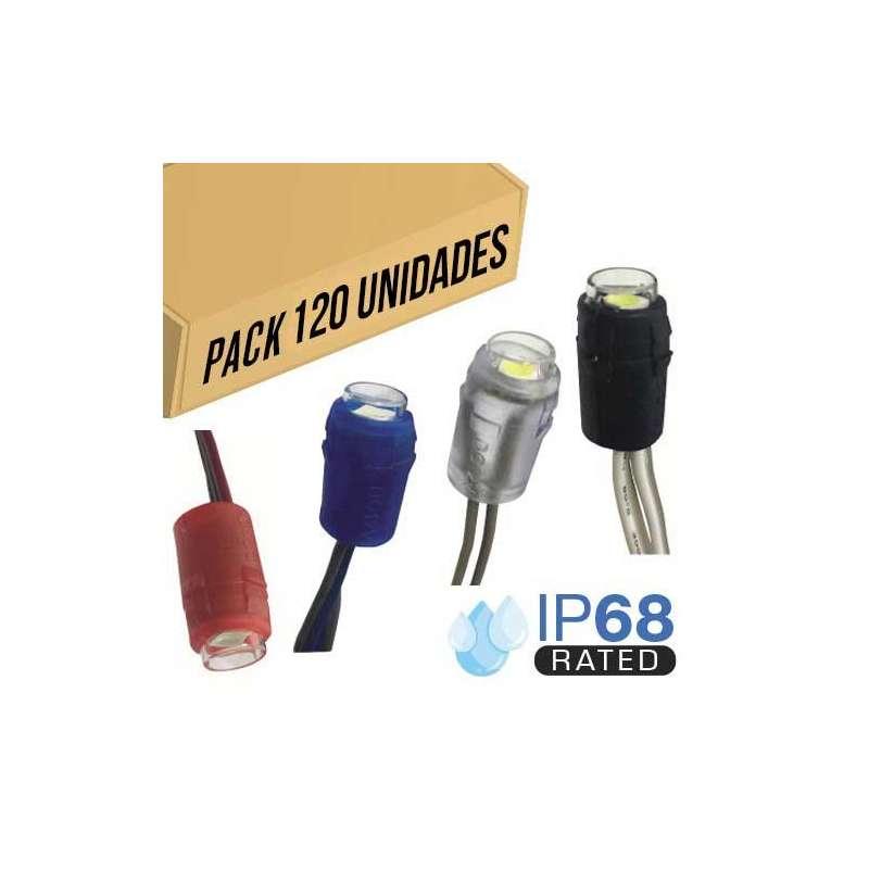 Pack 120ud - Módulo LED para rotulación Verde 0.24W IP68 12V Diodo SMD5050