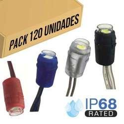 Pack 120ud - Módulo LED para rotulación Amarillo 0.24W IP68 12V Diodo SMD5050