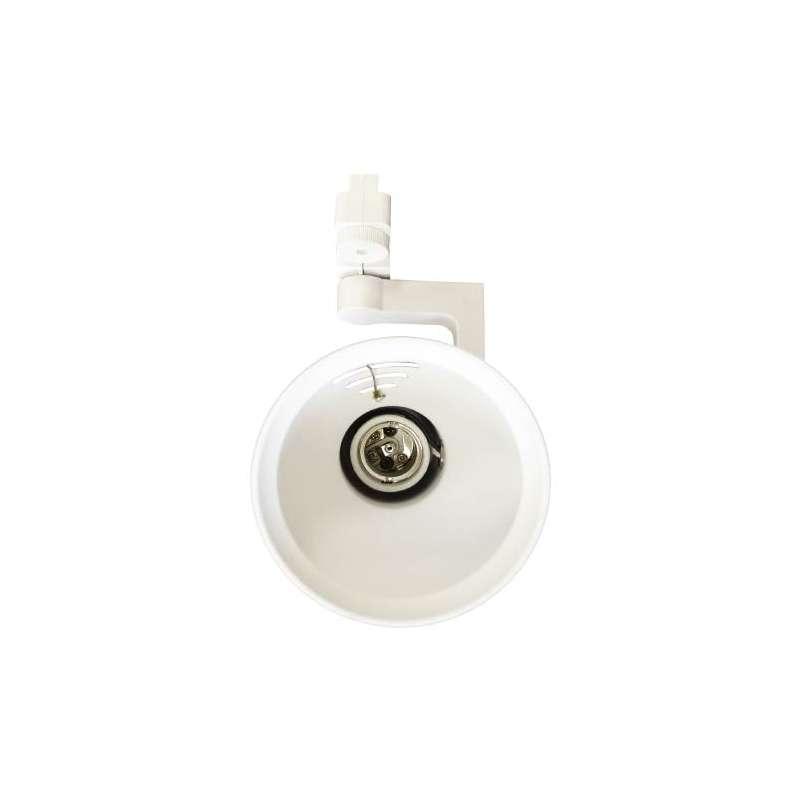 Aplique para bombilla LED PAR30 Blanco Carril de 2 Núcleos