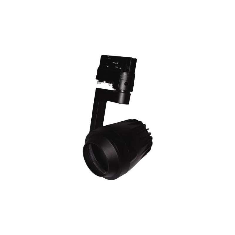 Aplique para bombilla LED PAR20 Negro Carril de 4 Núcleos