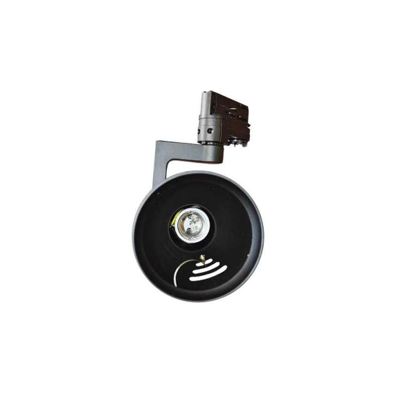 Aplique para bombilla LED PAR30 Negro para carril de 4 Núcleos