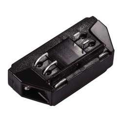 Mini conector negro para carril de 4 Núcleos